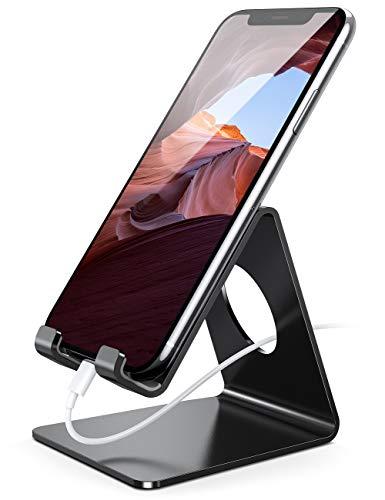 Handy Ständer, Lamicall Handy Halterung - Handyhalterung, Halter für iPhone 11 Pro, Xs Max, Xs, XR, X, 8, 7, 6 Plus, SE, 5, Samsung S10 S9 S8 S7 S6, Huawei, Schreibtisch, andere Smartphone - schwarz