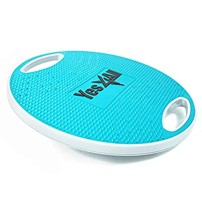 Yes4All Wobble Balance Board/Round Wobble Board – 16.34 inch Plastic Balance Board for Rehabilitation Exercise & Core Strength Training (Blue/Gray)