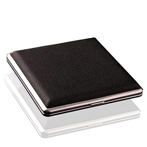 EDFCV Tenedor de Cuero de Cuero Extra Delgado de Cuero con Marco de Metal Presione ButtonHolds 20pcs 84mm Cigarrillo (Color : Black, Size : 100mm*85mm)