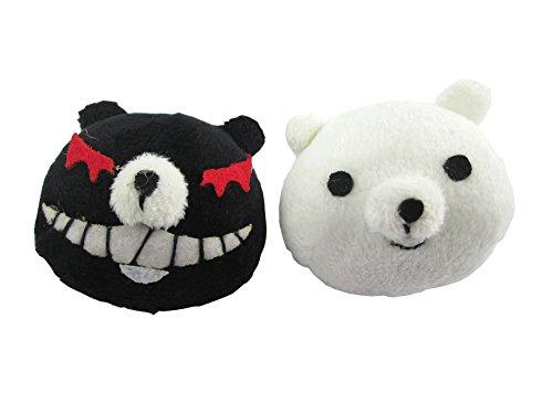 Brdwn Women's Cosplay Cat Frog Bear Rabbit Snow Headwear Hair Accessory Hairpin,Black&White bear