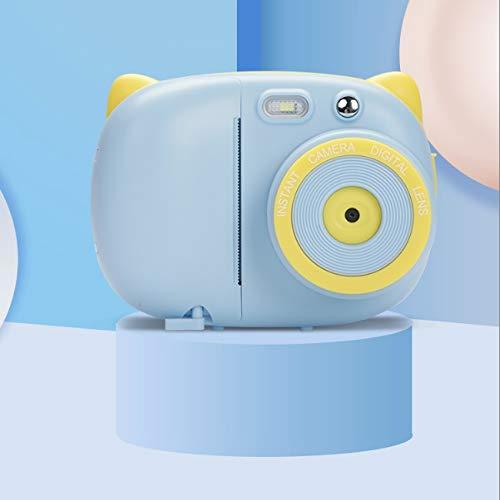 LXSMXJ Juguete cámara Polaroid de los niños Pueden Tomar fotografías e Imprimir Mini Digital SLR cumpleaños Regalo de la Muchacha (Color : A)