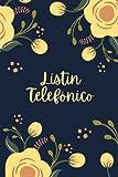 Listín telefónico: Libreta de direcciones y contactos telefónicos ordenación de la A-Z | 324 registros | Agenda de teléfonos vintage | Cuaderno con ... Agenda telefónica abecedario A5 letra grande