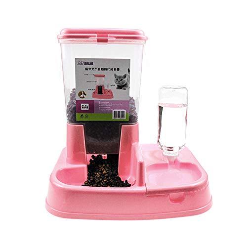 WARMTOWER Automatischer Wasser- und Futterspender für Katzen und kleine Hunde – 1,5 kg, 500 ml Wasser