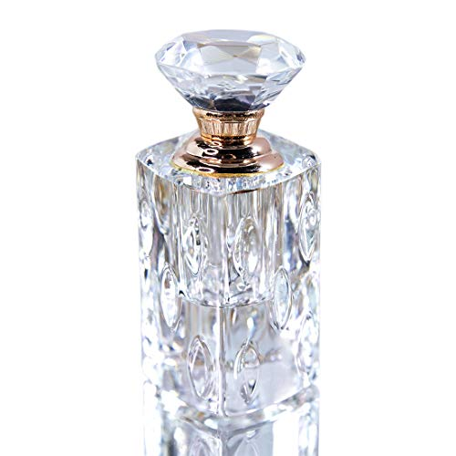 Crystal Perfume Bottles Clear Art Carved Decor Vintage Style Empty Glass Bottles Refillable 4ml