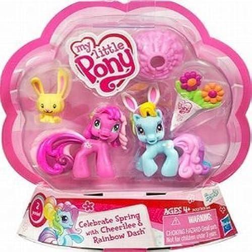 Mon Petit Poney - Ponyville - Exclusif Paques 2-pack - Célébrez les ressorts -  Cheerilee & Rainbow Dash avec lapin de Paques