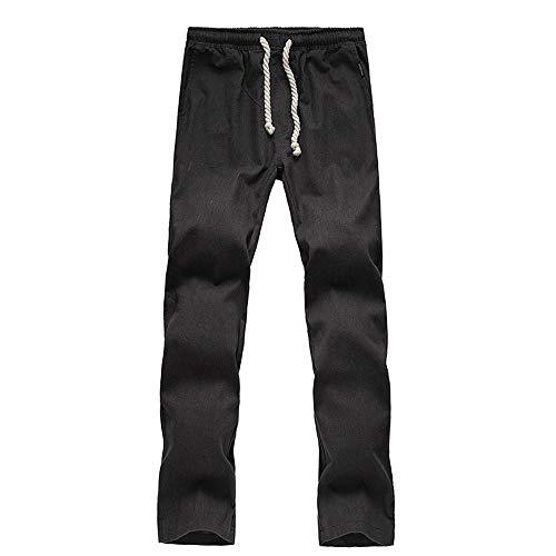 Beonzale Herren Neue Sommermode Baumwolle Casual Und Hanf Neun-Cent-Hosen Mode Freizeithosen Jeans Hose Trainingsanzug Jogginghose
