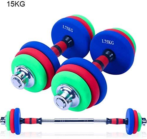 Xinyuan Hantel-Set mit justierbarem Gewichte Hex Gummi Gewicht-Training Dumbbells Set Metall Ergonomische Griffe Prevent Wälzlager, Injury for Home Gym Übung Unisex 10KG (Color : 10kg)