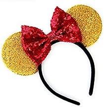 CL GIFT Winnie the Pooh Mickey Ears, Winnie the Pooh Ears, Beauty and the Beast Ears, Belle Ears, Belle Mickey Ears, Disney Inspired Beauty and the Beast Ears, Gold Minnie ears,