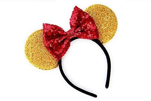 CL GIFT Winnie The Pooh Mickey Ears, Winnie The Pooh Ears, Beauty and The Beast Ears, Belle Ears, Belle Mickey Ears, Beauty and The Beast Ears, Gold Minnie Ears