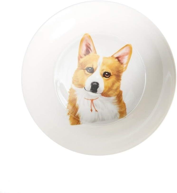 Unknown1 Corgi China Bread Special sale item Plate Multi Max 64% OFF Ceramic Inch Color 8
