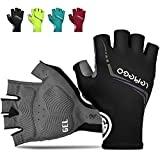 <span class='highlight'><span class='highlight'>LEMEGO</span></span> Cycling Gloves Mountain Road Bike Gloves Half Finger Bicycle Glove for Men Women Padding Reflective Strips Breathable Anti-slip Shock-Absorbing for MTB Riding Fitness Gym Sport Outdoor