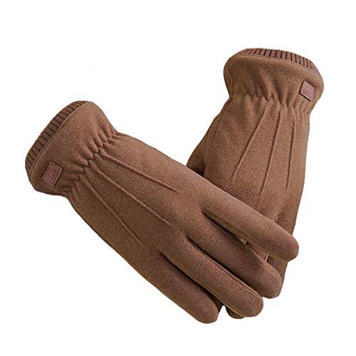 Invierno guantes cálidos moda invierno femenino guantes gamuza cálido mitones tacto pantalla viento a prueba de viento a prueba de viento manoplas mujeres al aire libre deporte mujeres guantes for esq