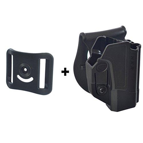 ORPAZ Defense Tiefziehholster verstellbar drehbar drehung Paddle Pistole Holster Active Retention + Gürteladapter für Heckler & Koch H&K USP 45, USP 9mm and USP 45 (Full Size Only)