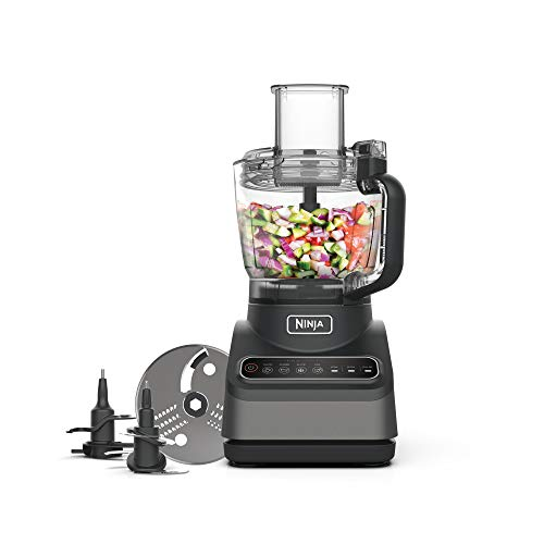 Ninja Food Processor with Auto-iQ [BN650UK] 850W, 2.1L Bowl, Silver