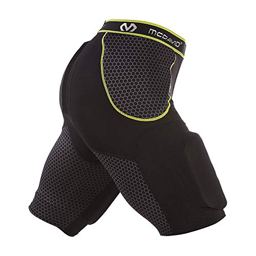 Football Protective Gear for Men Tailbone and Thigh Pads Adams High Rise Varsity All-in-One Football Girdle Padded Compression Shorts with Integrated Hip