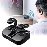 サンワダイレクト テレビ用 Bluetoothイヤホン&トランスミッター USB/3.5mm/RCA/光デジタル 軽量 400-BTTWS4BK