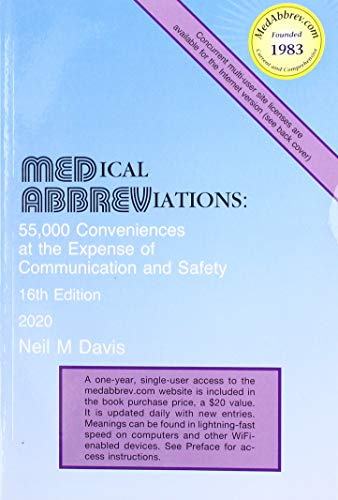 Compare Textbook Prices for Medical Abbreviations 16th ed. Edition ISBN 9780931431005 by Davis, Neil M