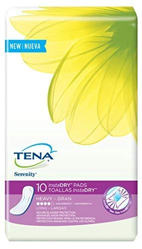 Tena Incontinence Pads for Women, InstaDRY Heavy, Long, 10 ea
