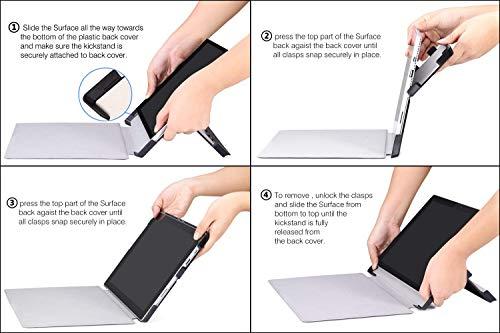 MoKo Hülle Kompatibel mit Surface Go 2 2020 / Surface Go 2018 10(Inch) - Ultra Slim Lightweight Kunstleder Schutzhülle Smart Cover - Schwarz