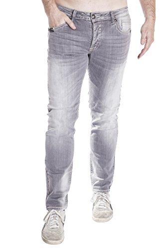 Blue Monkey Herren Jeans Slim Fit Freddy 9002 Grau 34/32
