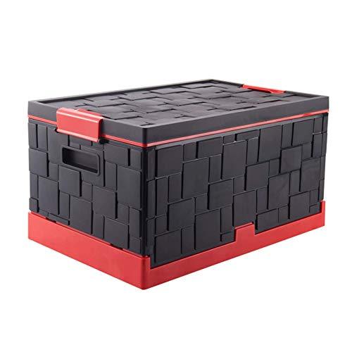 OJPOGHU Caja de Almacenamiento de Tronco Plegable de ZQCM, Caja de Almacenamiento Multifuncional del hogar con Caja de Almacenamiento Caja de Guantes para el hogar fácil de Montar, Negro
