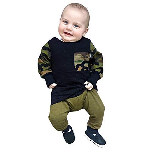 Ensemble Bébé Fille Binggong Vêtements T-Shirt à Imprimé Rayé éléphant pour Bébé Garçon Nouveau-né Tops Set Vêtements Casaul pour Filles 6-55Mois
