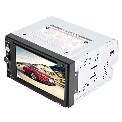 Gugxiom Lettore per Auto, Touch Screen Digitale 800 X 480 HD Retroilluminazione a Pulsanti a 7 Colori Lettore per Auto da 6,2 Pollici per Auto