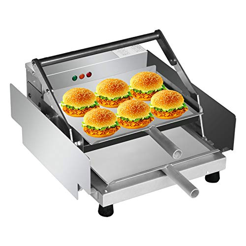 Toaster Bake Burger Machine Elektrischer Hamburger Backofen Brotgrill Aluminium Doppelschicht Batch Bun Toaster Heizung