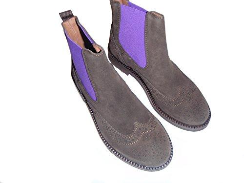 Gallucci Chelsae Boots, Stiefeletten mit Budapester Muster (Numeric_28)