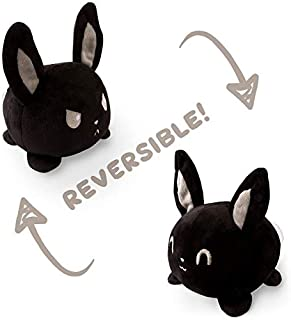 TeeTurtle Reversible Bunny Mini - Black Plush Toys