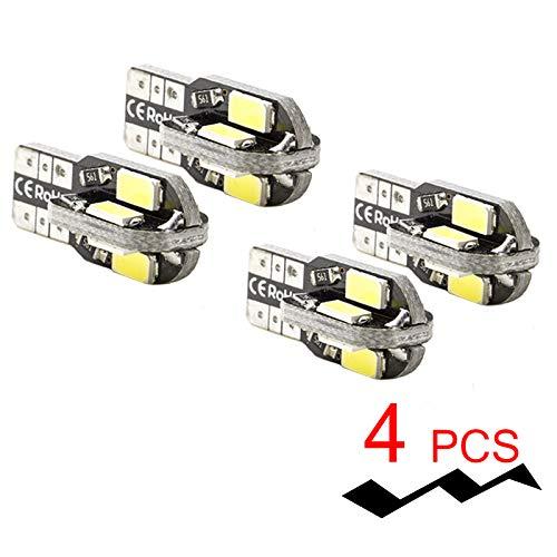 PA LED Lot de 4 x LED de frein lumière CANBUS T10 W5 W # 555 360 ° Super Bright Blanc Canbus 5630 5730 SMD Lampe 12 V