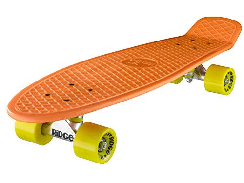Ridge Skateboard Big Brother Nickel 69 cm Mini Cruiser, orange/gelb