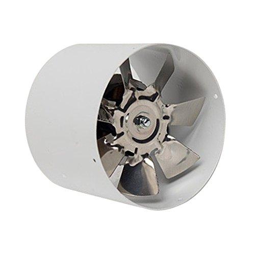 MagiDeal Ventilador de Conducto en Línea de 4', Ventilador de Escape de Hoja de Metal, Ventilador de Enfriamiento de Aire, 220 V