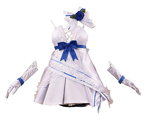Honkai Impact 3 Cosplay Costume Raiden Mei Cosplay Costume Wedding Dress Halloween Costume Full Set (Female S,Size)