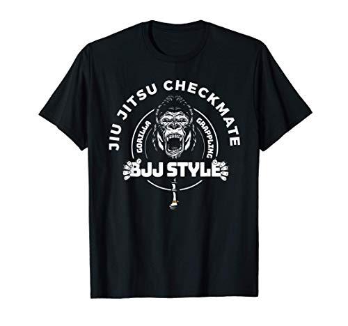Combattimento Sport Jiu Jitsu Checkmate Gorilla Maglietta