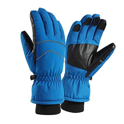 Rękawice termiczne zimowe ciepłe rękawiczki niebieskie ekran dotykowy wodoodporne rękawiczki dla mężczyzn kobiet pogrubione sportowe antypoślizgowe rękawice termiczne na zimną pogodę na zewnątrz snowboard rower wspinaczka jazda jazda na rowerze rękaw