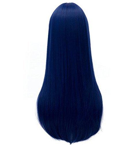『Netgo ラブライブ風 コスプレウィッグ ロング ストレート ブルー そのだうみ アニメかつら 仮装 コスチューム小物』の4枚目の画像