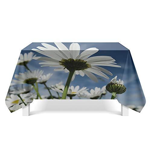 DREAMING-Ästhetische Blumenkunst Tischdecke Home Esstisch Stoff Tv-Schrank Couchtisch Stoff Runde Tisch Tischset 140cm * 220cm