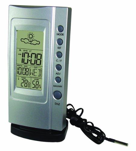 Elektrische kookplaat. Thermometer Klimatimer Plus, zilver