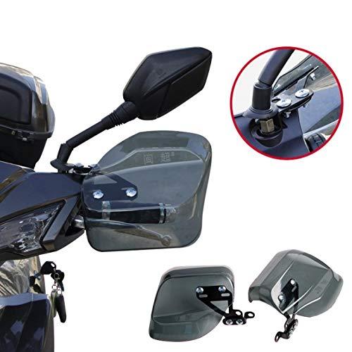 OBEST ナックルガード 汎用 バイク スクーター TYPE2 スモーク バイザー ハンドガード ハンドルカバー 風防 雨除け 防寒対策