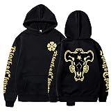 Anime Black Clover Hoodie Black Bulls Squad Emblem Sweatshirt Gift Pullovers Tops