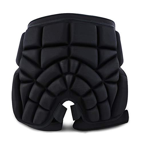 WING Beschermbroek voor heren, dames, kinderen, MTB, ski, snowboard, skater, beschermende broek, heupen, beschermende broek, ademend, 3D gevoerd, skibroek, zwart