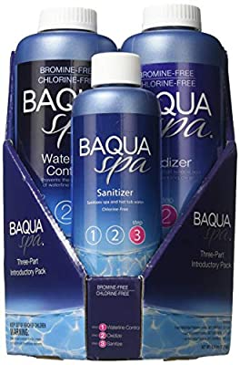 Baqua Spa 88863 3-Part Pack Introductory Spa and Hot Tub Care Kit