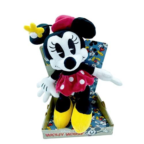 "WHL Peluches Mickey Mouse y Minnie Mouse, 90 Aniversario - 25cm (10""), Súper suave (MINNIE 90TH)"