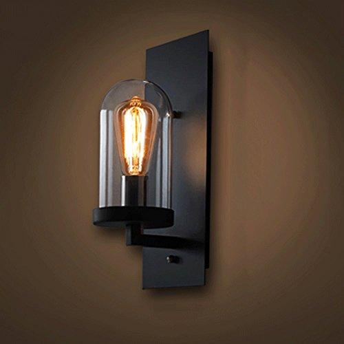 KMYX Loft Style Single Head zwart ijzeren wandlamp industriële wandlamp wandlampen voor cafe bar lobby magazijn woonkamer slaapkamer bedlampje E27 wandlamp