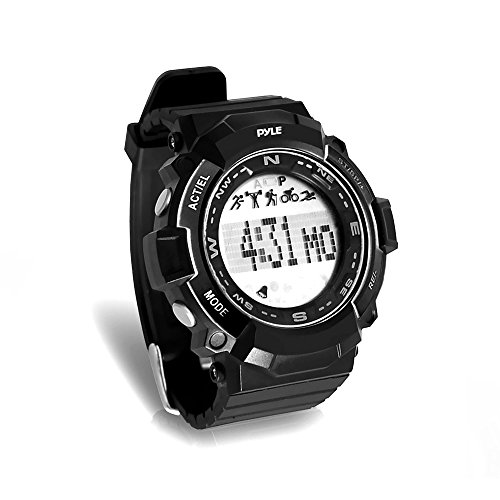Pyle Digital Multifunction Sports Wrist Watch - Smart Fit Classic Men Women Sport Running Training Fitness Gear Tracker w/ Sleep Monitor, Pedometer, Alarm, Stopwatch, Backlight - PSPTR19BK (Black)