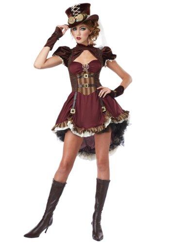 California Costumes Costume adulte Steampunk Girl, marron, L