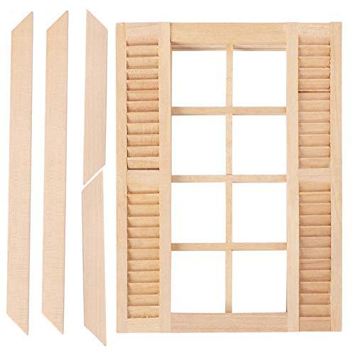 TOYANDONA 1:12 Casa de Muñecas en Miniatura DIY de Madera Ventanas Cuadradas Muebles Accesorios Casa de Muñecas Escena en Miniatura Muñeca Muebles para El Hogar Artesanía Suministros para
