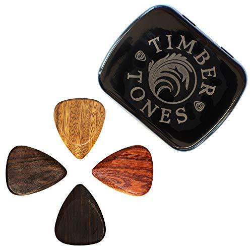 Timber Tones Picks TTEGT4 - Púa Madera Tonos Guitarras eléctricas (Estaño de...