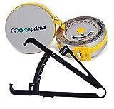 OrtoPrime Pack Cinta Métrica corporal Profesional Nutricionista IMC + Plicómetro Profesional...